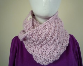 Baby Pink Infinity Scarf, wool and alpaca