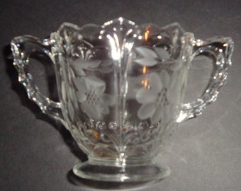 W.J. Hughes Corn Flower Sugar Bowl ~ New Martinsville