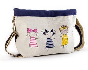 Bag girls blue fabric