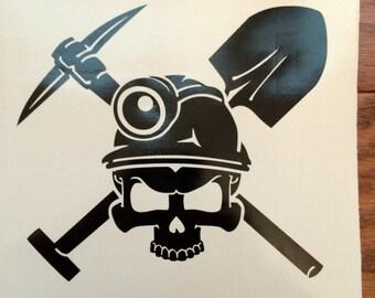 Coal Miner decal | Coal Miner skull | Coal