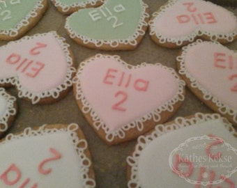Love party bags cookies, personalized biscuits, colors and inscription on request, price for 10 cookies