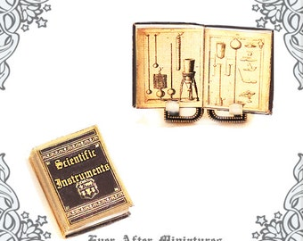 SCIENTIFIC INSTRUMENT Dollhouse Miniature Book – 1:12 Science Laboratory Instrument Miniature Book Academic Textbook Gift Printable DOWNLOAD