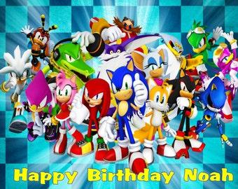 Sonic Edible Cake / Cupcake Toppers