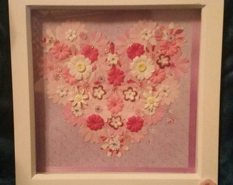 Valentines exclusive! ~ Love Blossoms ~ framed and ready to hang