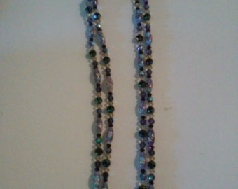 Double strand, purple necklace