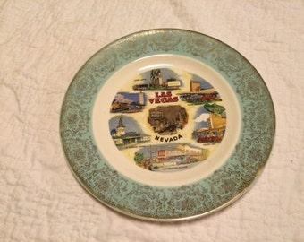 vintage VEGAS souvenir plate