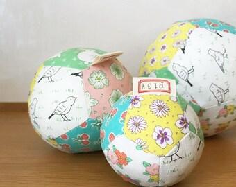 linen patch ball - medium