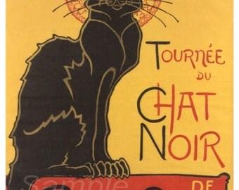 Vintage Tournee du Chat Noir Poster Print