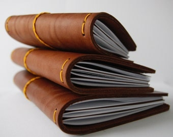 RMBR Leather Notebook Cover - brown