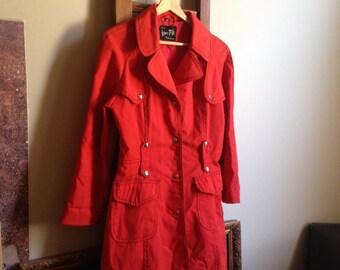 Red 1960s Coat