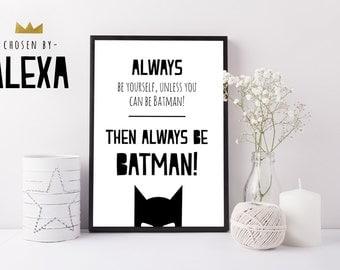 Batman Print - Handmade Print
