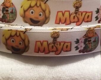 3 yards,  7/8' grosgrain ribbon  Maya the bee design