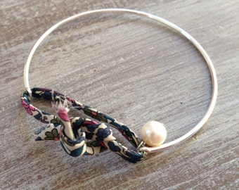 Bracelet silver Liberty and perle