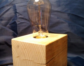 wooden lamp EDISON