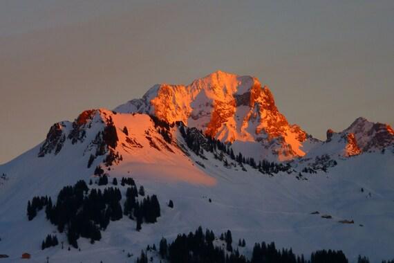 Snowy Mountains Sunrise