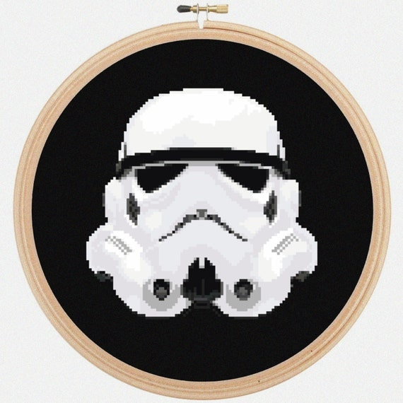 Storm Trooper Star Wars Counted Cross Stitch Pattern - PDF - Instant Download