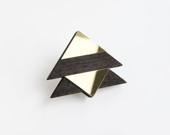 Geometric (Triangle I) Brooch