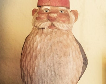Wood carved Gnome for garden lawn