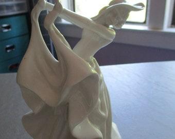 White porcelain dancing girl