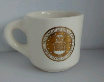 Vintage United States Department of the Air Force Mug Military Supply Co