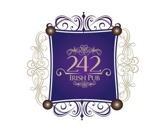 242 Irish Pub Logo Template