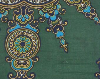 Green Java Wax Prints African Ankara Fabric Per Yard