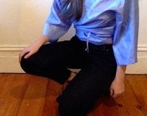 Carla Zampatti 70s style wrap kimono tie top
