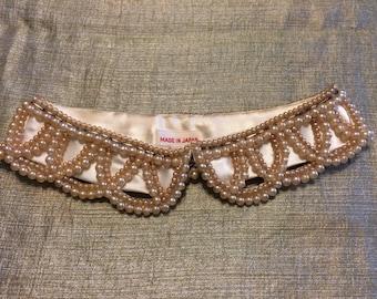 SALE!  Vintage faux pearl peter pan collar