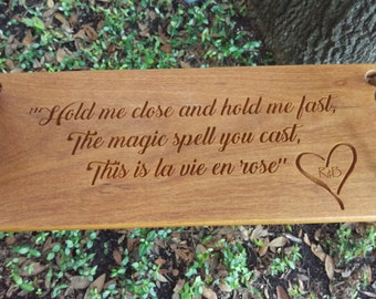 Personalized Engraved Tree Rope Swing Exotic Hardwood -  Custom