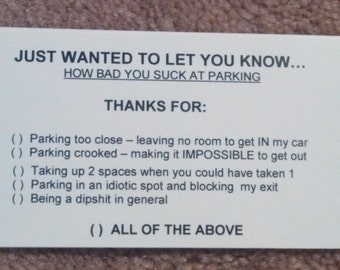 Pack of 8 Fake Parking tickets! **PRANK**JOKE**GAG**Gift**Citation*Ticket**
