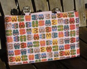 flip flop print handbag/monogrammed flip flop purse