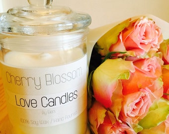 100% Soy Wax Hand Poured Triple Scented Candles
