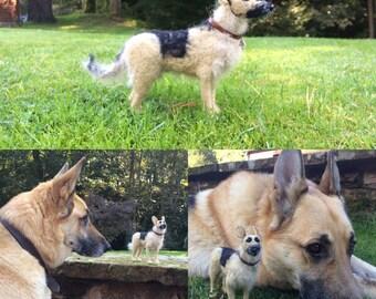 Custom Item - Your own dog needle felted - large breed GSD / spaniel / lab etc. Ooak unique felting gift.