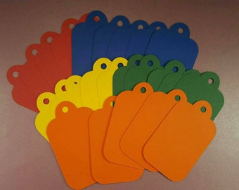 Vibrant gift tags