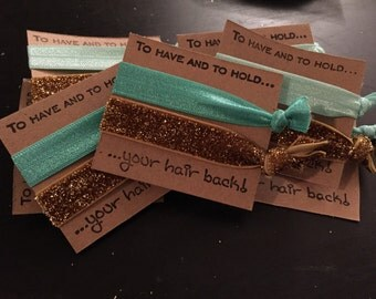 """Handmade """"To Have and To Hold Your Hair Back"""" Hair Ties (Pack of 5!)"""