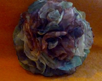 Beautiful Fabric Rose-various shades of pinks and greens