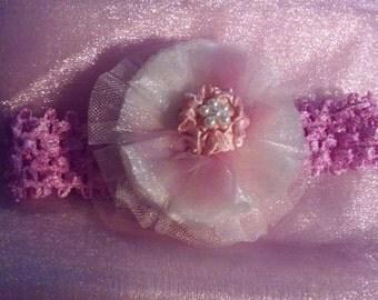 Tulle/Organza Flower Headband