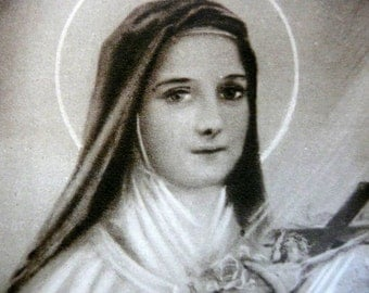 Vintage French Saint Therese Holy Card