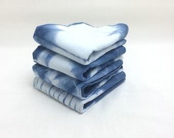 Wedding Cloth Napkins - Cloth Napkins - Eco Friendly Napkins - Shibori Napkins - Shibori Home Decor - Minimalist Housewarming Gift - Indigo