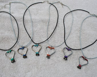 Heart Horseshoe Nail Necklace