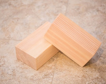 Wooden Yoga Block Set