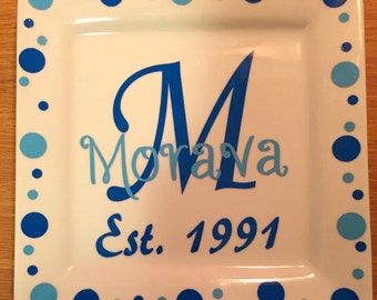 Round or square plates made to order  with your choice of colors & design
