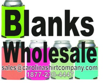 Mix Colors, Blank Coolies Free shipping.