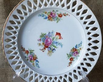 Vintage Hand Painted Plate, #650