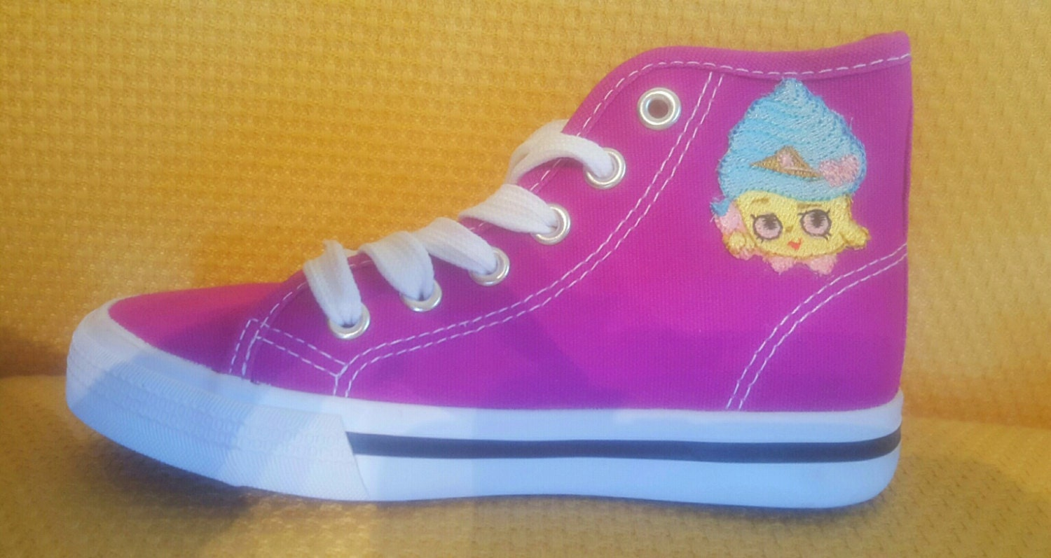 shopkins inspired cupcake tennis shoes by