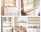 Country Pine Hand Painted Shabby Chic Kitchen Pine Oak Dresser TO ORDER