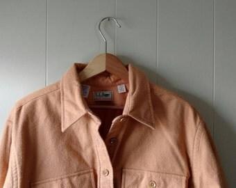 Vintage LL Bean Chamois cloth button down shirt // LL Bean flannel, 90s hiking, made in usa // women's size 18