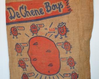 DeChene Boys Minnesota Potatoes Burlap Sack