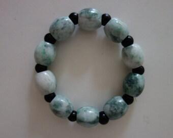 Old  chinese jadeite jade beads bracelet