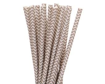 Paper Straws, Gray Chevron Straws, Gray and White Paper Straws, Vintage Straws, Glam Paper Straws, Wedding Gray Straws, Baby Shower Straws